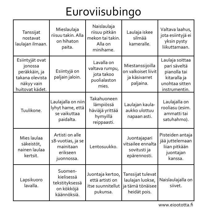 Euroviisubingo