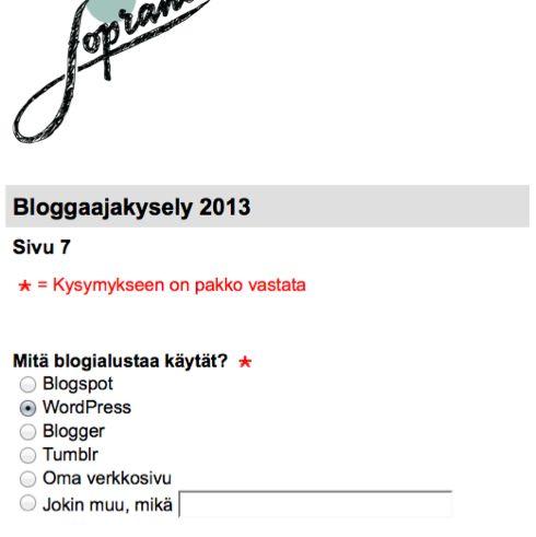 Soprano luulee, että Blogger ja Blogspot ovat eri alustoja.