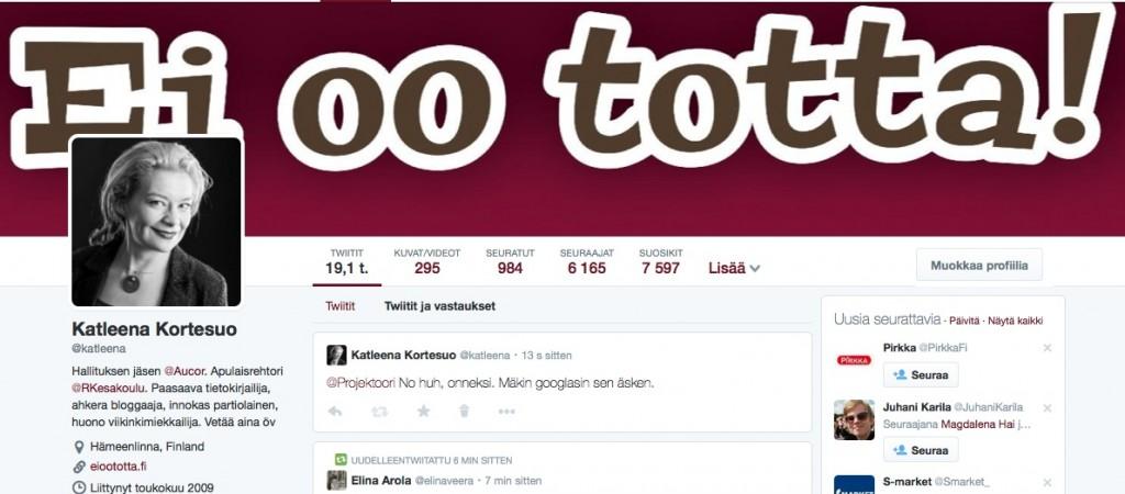 Twitter-profiili Katleena