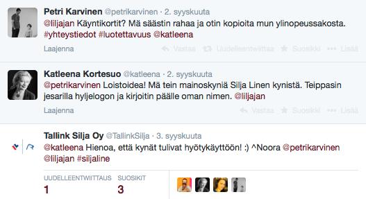Twitter Silja Line mainoskynat