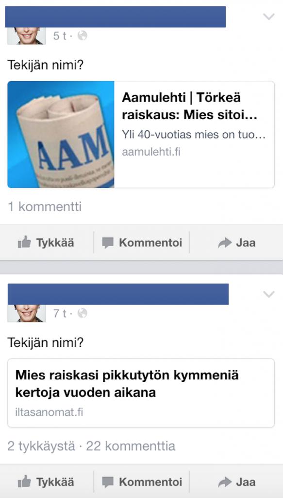 Rikollisten nimet Facebook