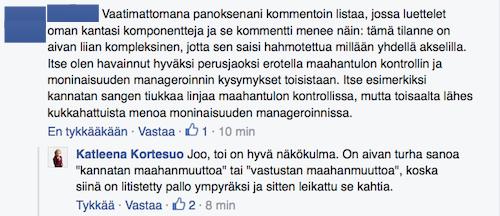 Kommentti FB