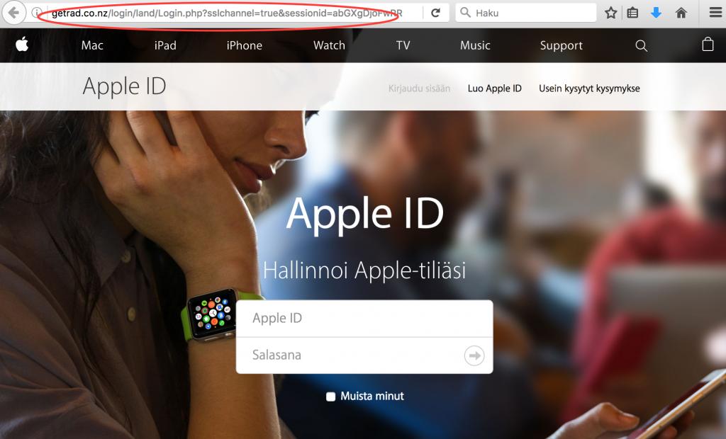 Verkko-osoite Apple