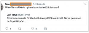 """Kommentti uutiseen: """"Miten Sanna Ukkola nyt erottaa ministeriöt toisistaan?"""""""
